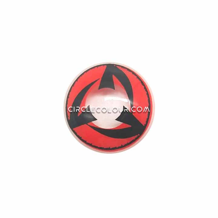 CircleColour® Soft Eye Circle Lens Kakashi Black Red Cosplay Naruto Colored Contact Lenses M0103