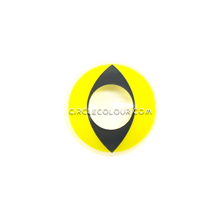 CircleColour® Soft Eye Circle Lens Cat's Eye Yellow Cosplay Colored Contacts Lenses M0108