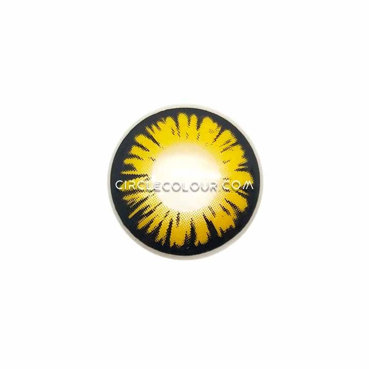 CircleColour® Soft Eye Circle Lens Miracle Yellow Cosplay Colored Contact Lenses M01146