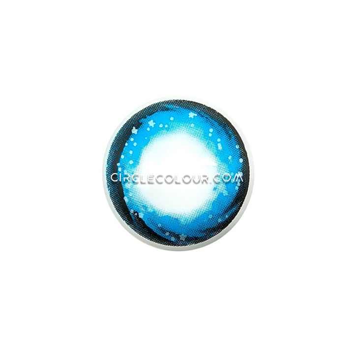 CircleColour® Cheap Soft Eye Circle Lens Starry Sky Blue Dream Colored Contacts Lens M0248