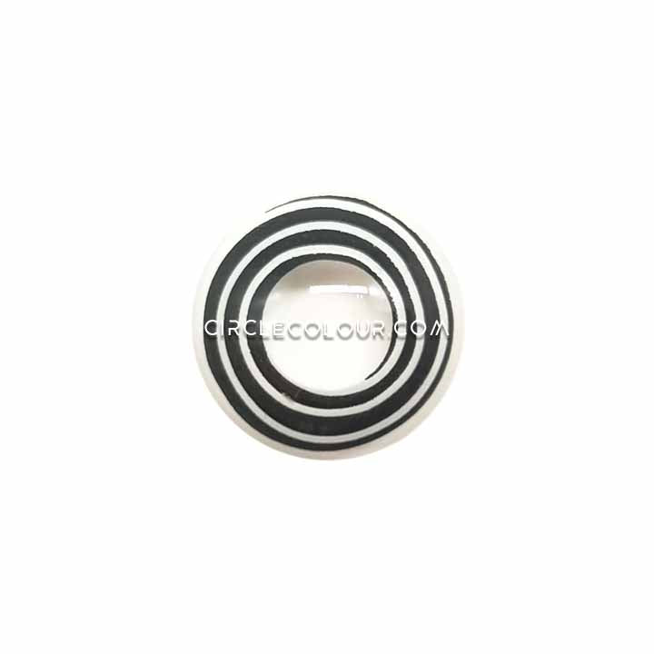 CircleColour® Soft Eye Circle Lens Rinnegan Black-white Cosplay Colored Contact Lenses M0632
