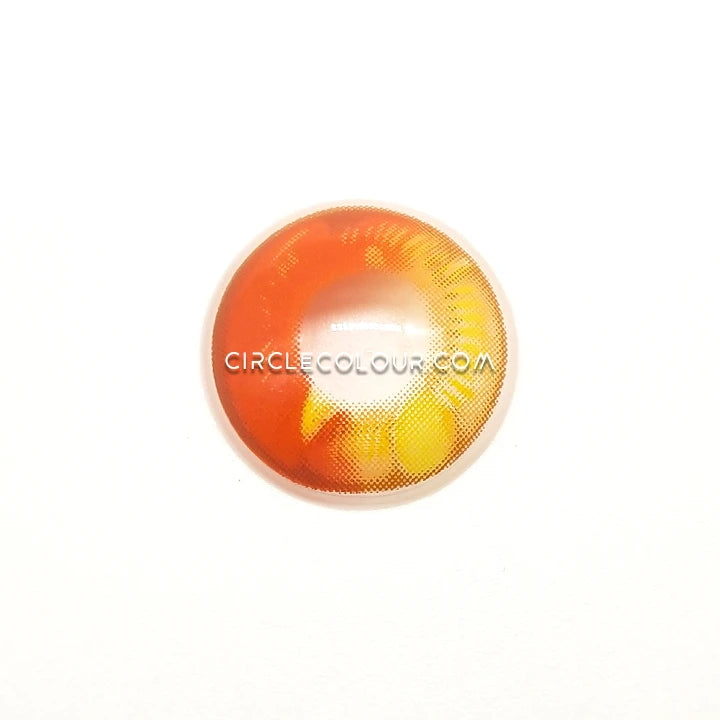 CircleColour® Soft Eye Circle Lens Dimension Orange Cosplay Colored Contact Lenses M0636