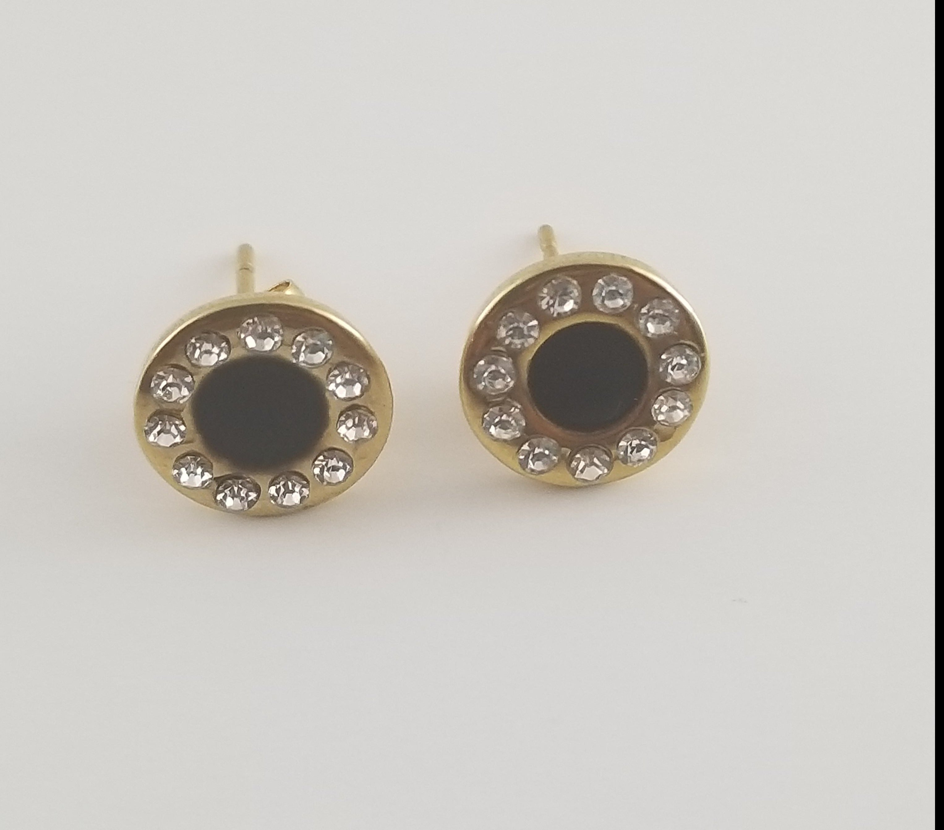 Black Crystal Studs