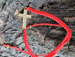 Red String Cross Bracelet