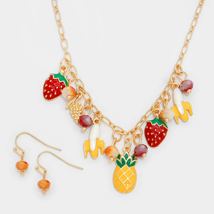 Tropical Fruit Necklace Set