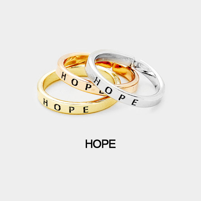 "3 pcs Ring Set ""Hope"""