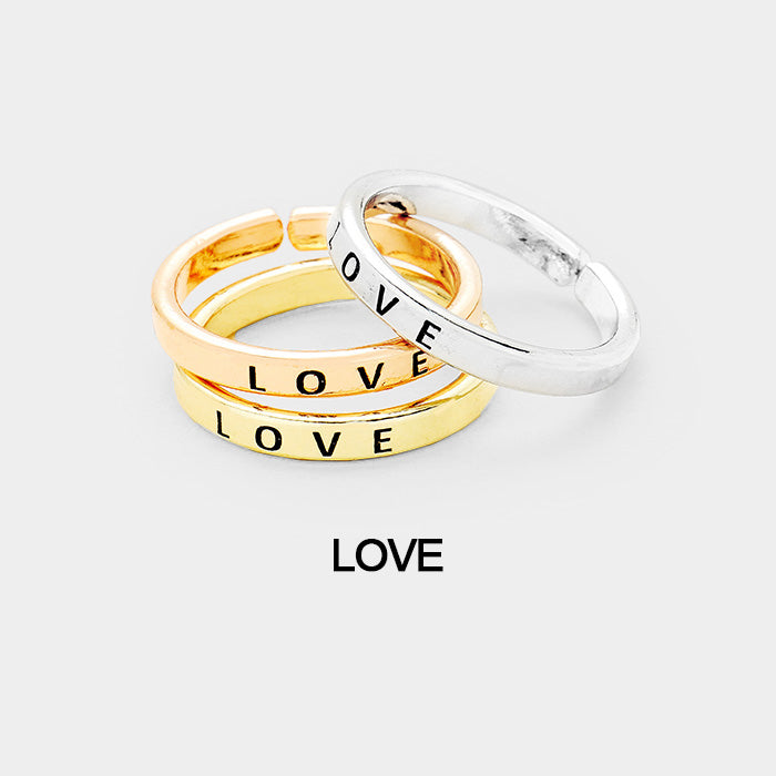 "3 pcs Ring Set ""Love"""