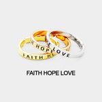 "3 pcs Ring Set ""Faith, Hope Love"""