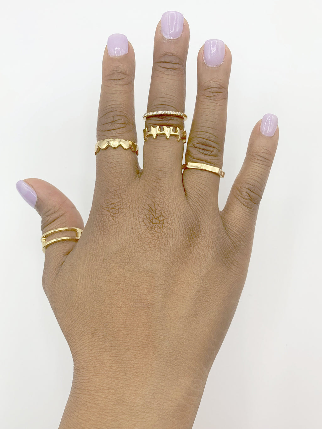 5pc Various Style Ring Set