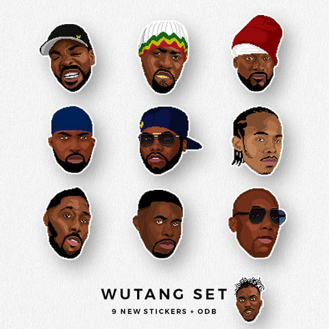 Wu Tang Sticker Set
