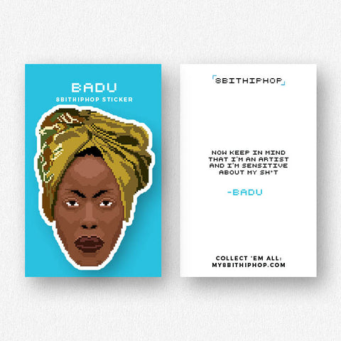 Badu Sticker