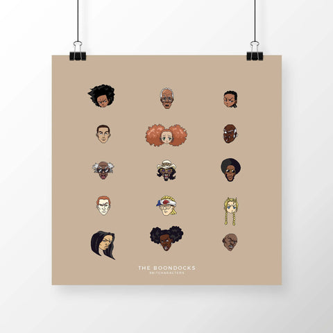 8BitCharacters: The Boondocks Poster