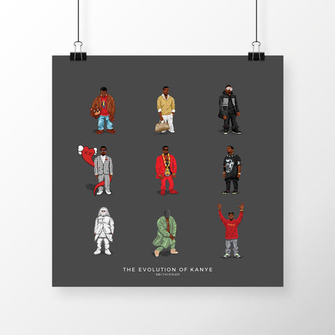 The Evolution of Kanye Poster