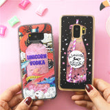 Unicorn Bottle Liquid Glitter Case