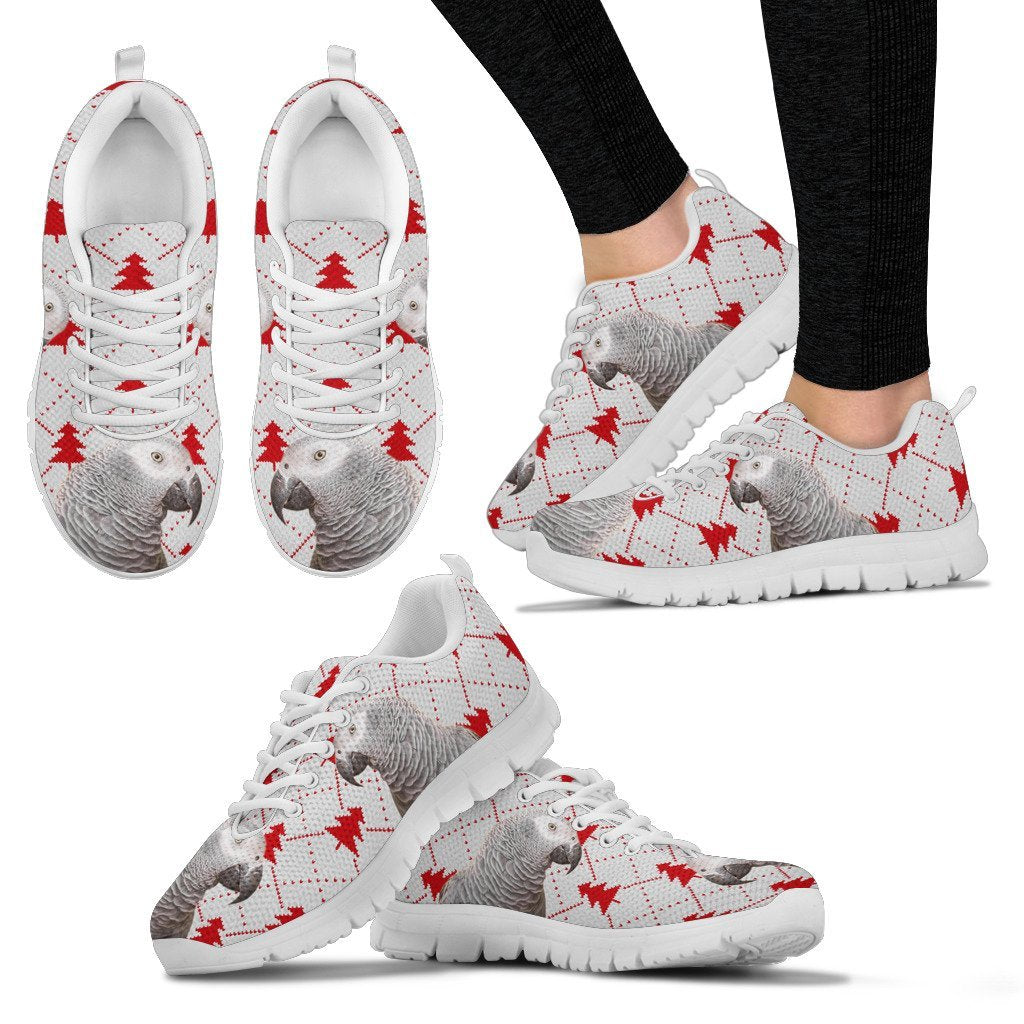 African Grey Parrot3 Christmas Print Running Shoes For Women-Free Shipping - Deruj.com