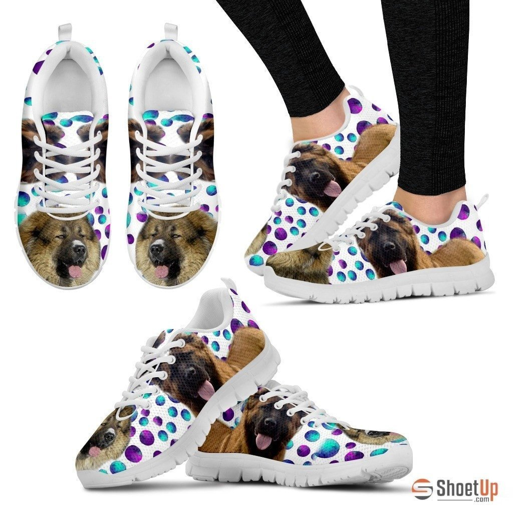 Caucasian Shepherd Dog (White/Black) Running Shoes For Women-Free Shipping - Deruj.com
