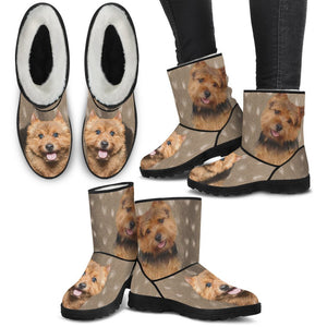 Norwich Terrier Print Faux Fur Boots For Women-Free Shipping - Deruj.com