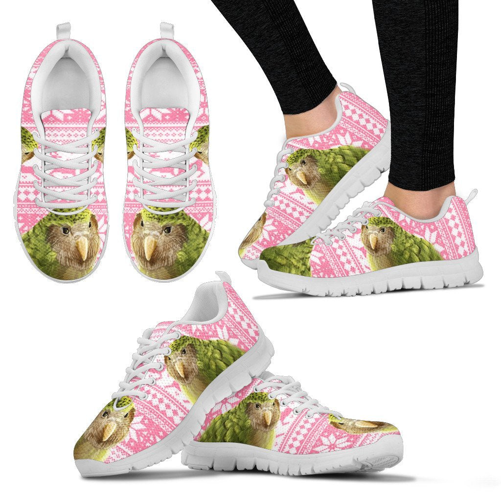 Sirocco Parrot (Kakapo) Christmas Running Shoes For Women-Free Shipping