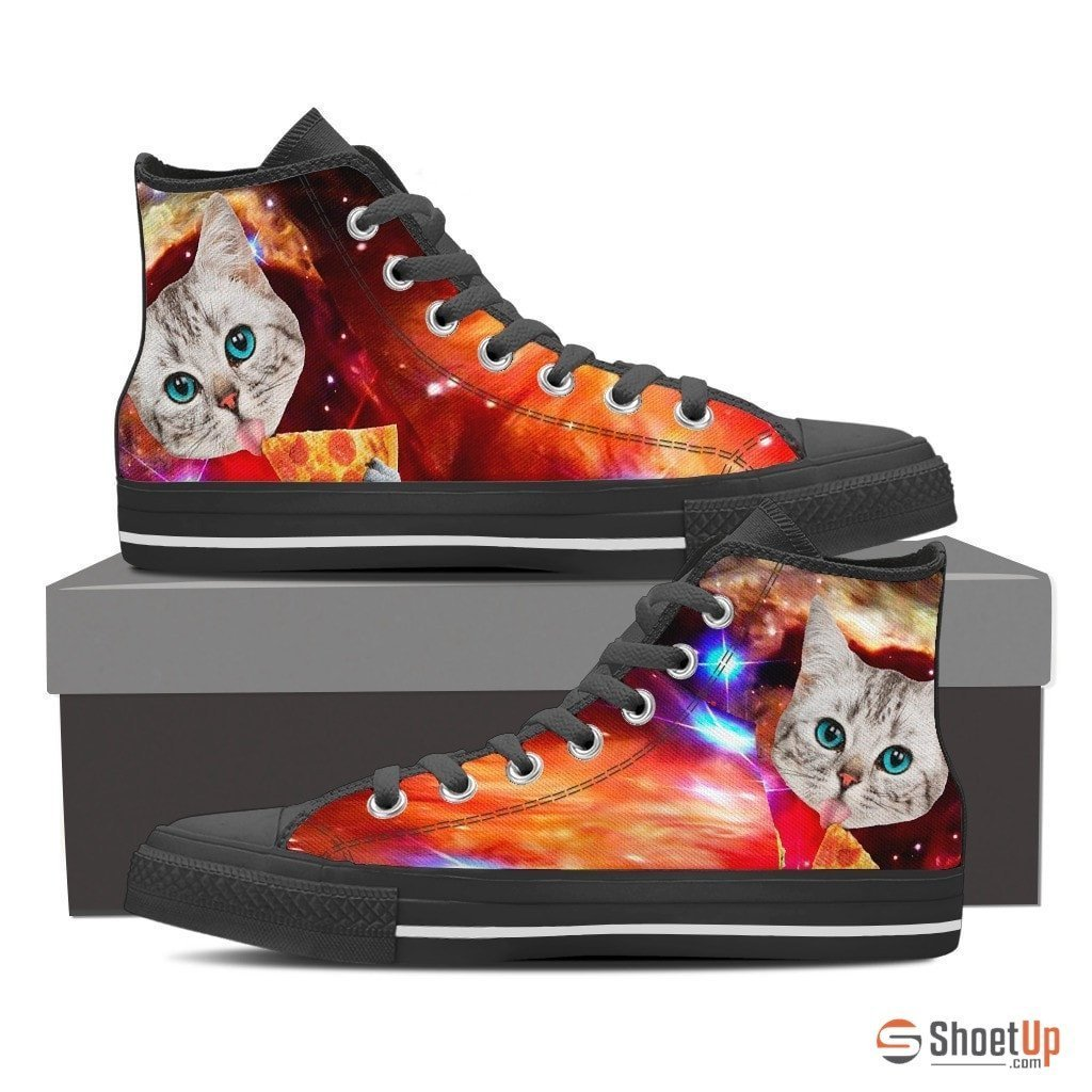Cat Printed-Women's High Top Canvas Shoe-Free Shipping - Deruj.com