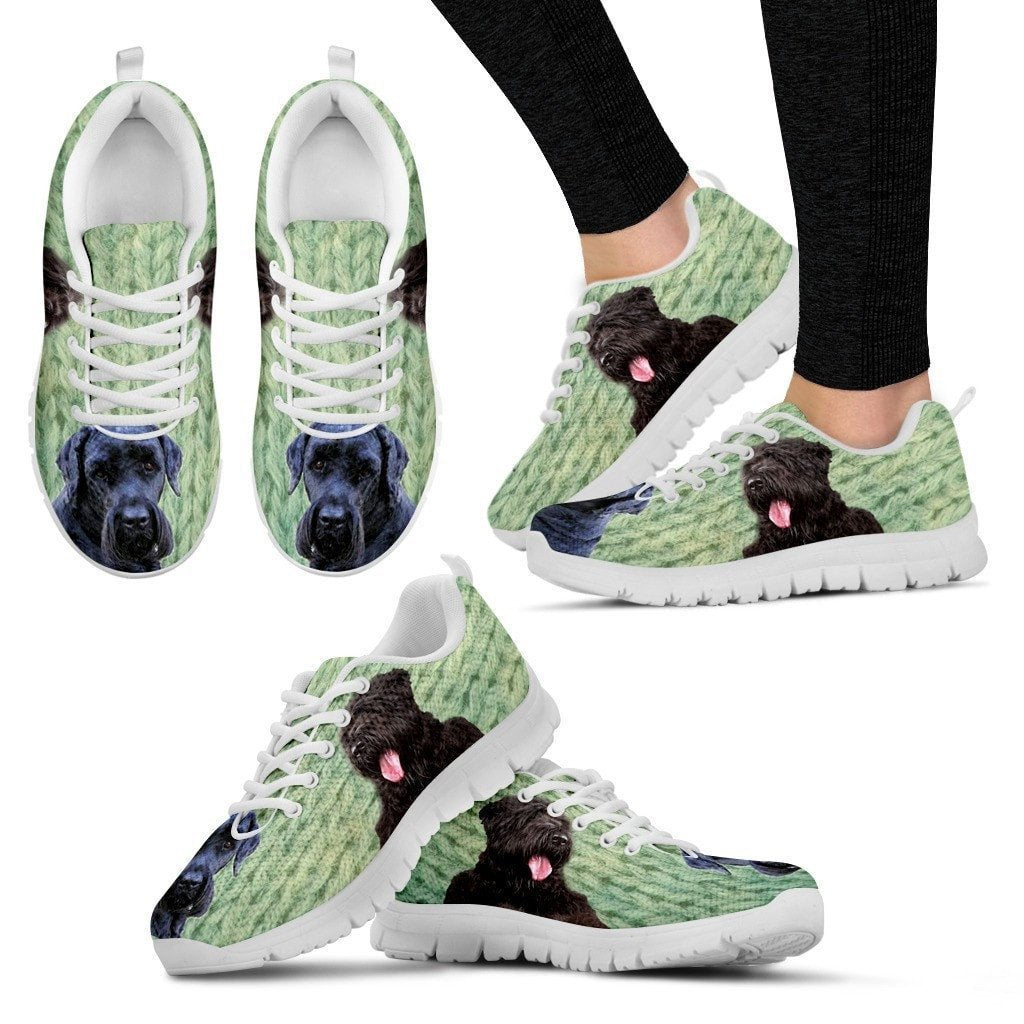Black Russian Terrier Print- (Black/White) Running Shoes For Women-Express Shipping - Deruj.com