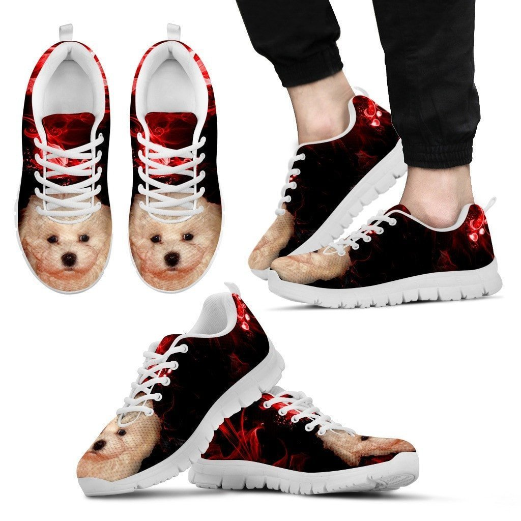 Bolognese Puppy Print Running Shoe For Men- Free Shipping - Deruj.com