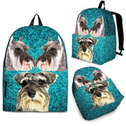 Miniature Schnauzer Dog Print Backpack-Express Shipping - Deruj.com