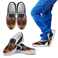 Dachshund Dog Print Slip Ons For Kids-Express Shipping - Deruj.com