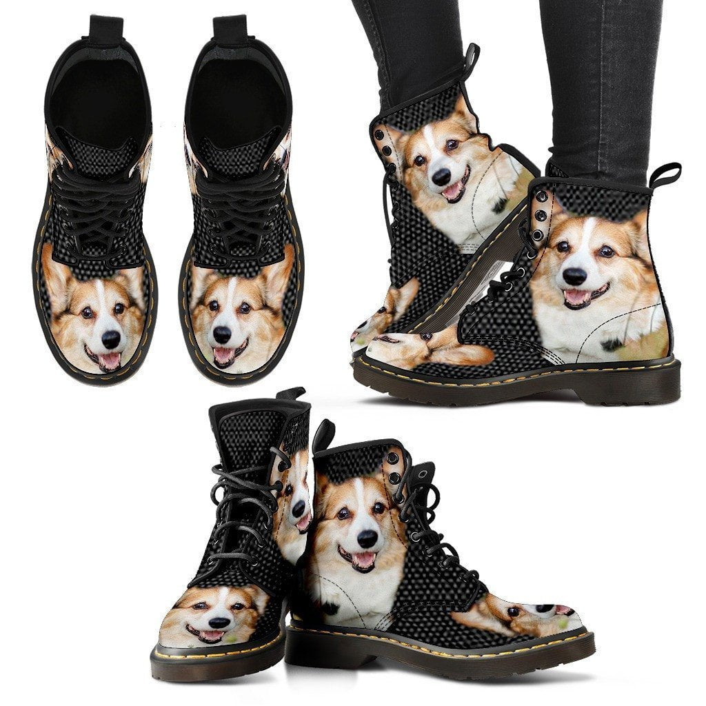 Pembroke Welsh Corgi Print Boots For Women-Express Shipping - Deruj.com