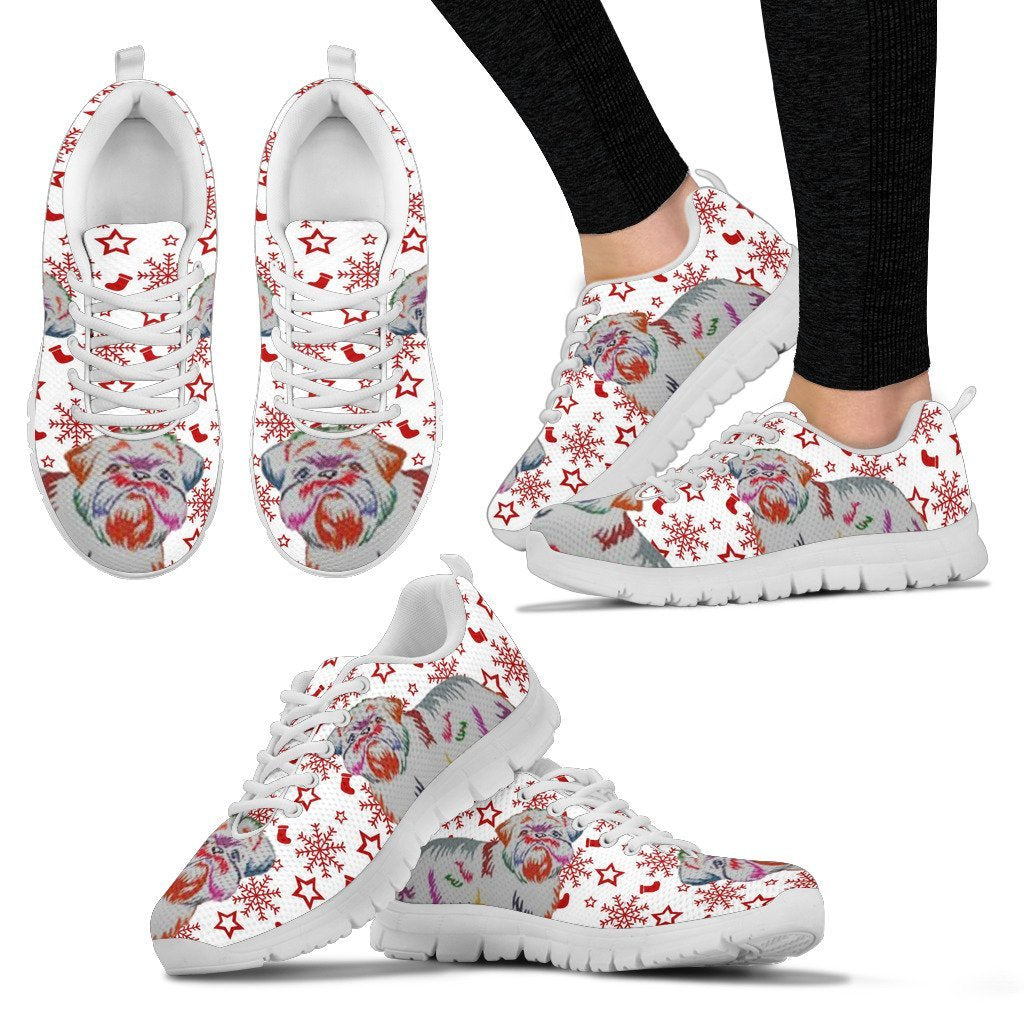 Brussels Griffon Christmas Print Running Shoes For Women-Free Shipping - Deruj.com
