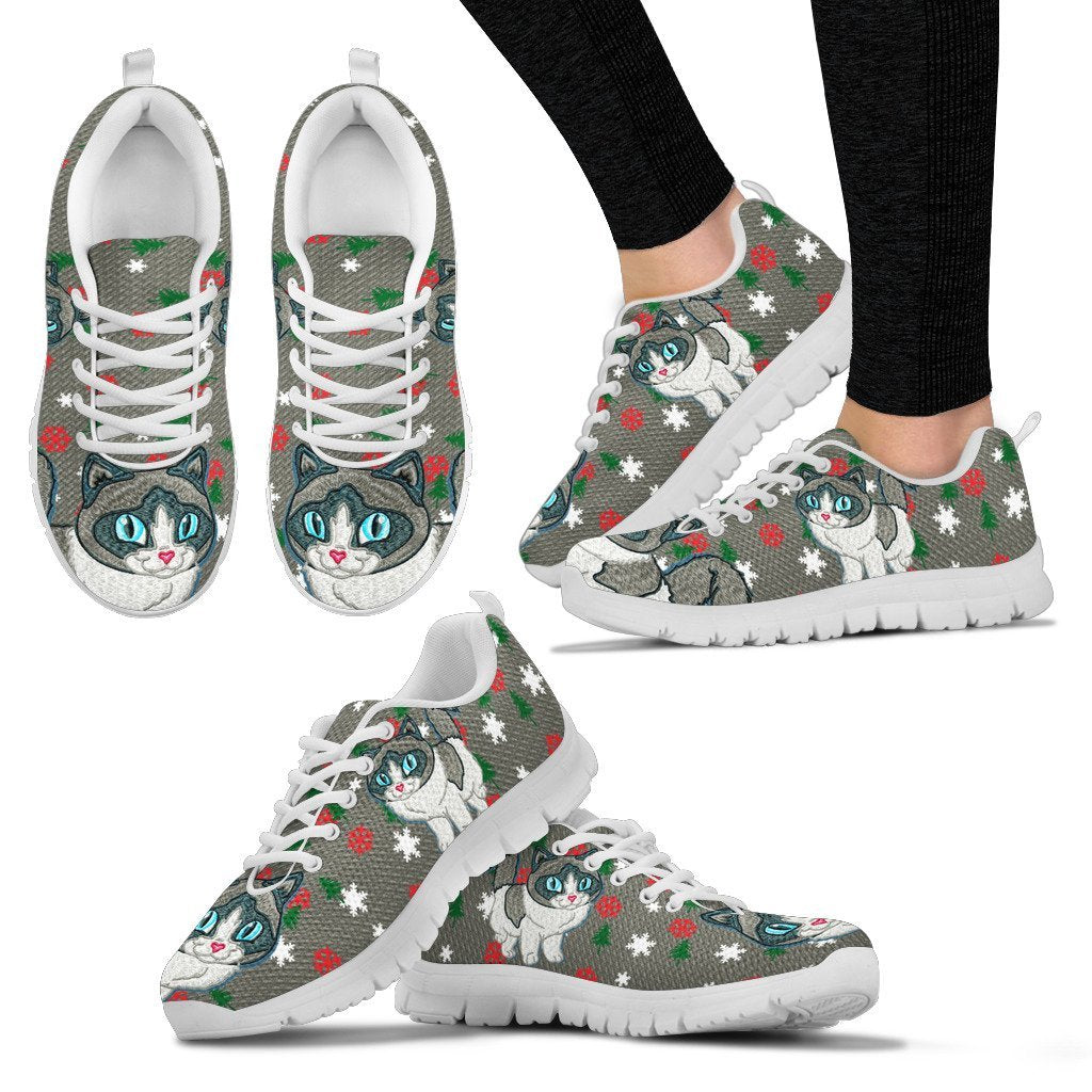Ragdoll Cat Christmas Print Running Shoes For Women-Free Shipping - Deruj.com