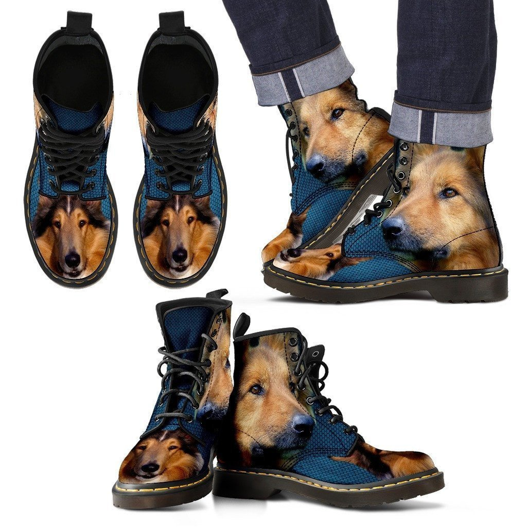 Collie Print Boots For Men-Express Shipping - Deruj.com