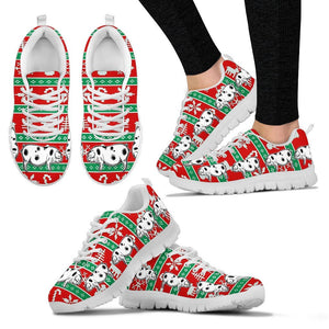 Ossabaw Island Pig 2nd Print Christmas Running Shoes For Women- Free Shipping - Deruj.com