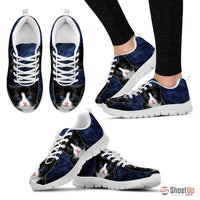 Ojos Azules Cat (Black/White) Running Shoes For Women-Free Shipping - Deruj.com
