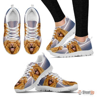 Customized Dog Print (White/Black) Running Shoes For Women-Free Shipping-Designed By Raffaella Belletti(2032) - Deruj.com