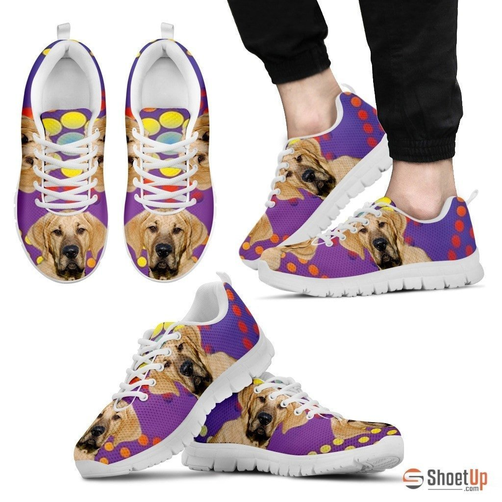 Broholmer Dog (White/Black) Running Shoes For Men-Free Shipping - Deruj.com
