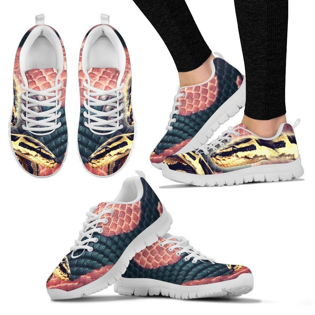 Customized Snake Print-Running Shoes For Women-Express Shipping-Designed By Tracy Neill - Deruj.com