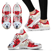 Valentine's Day Special-Great Pyrenees Dog Print Running Shoes For Women- Free Shipping - Deruj.com