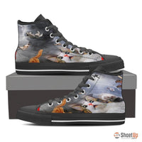 High Top Canvas Shoes For Women - Free Shipping - Deruj.com