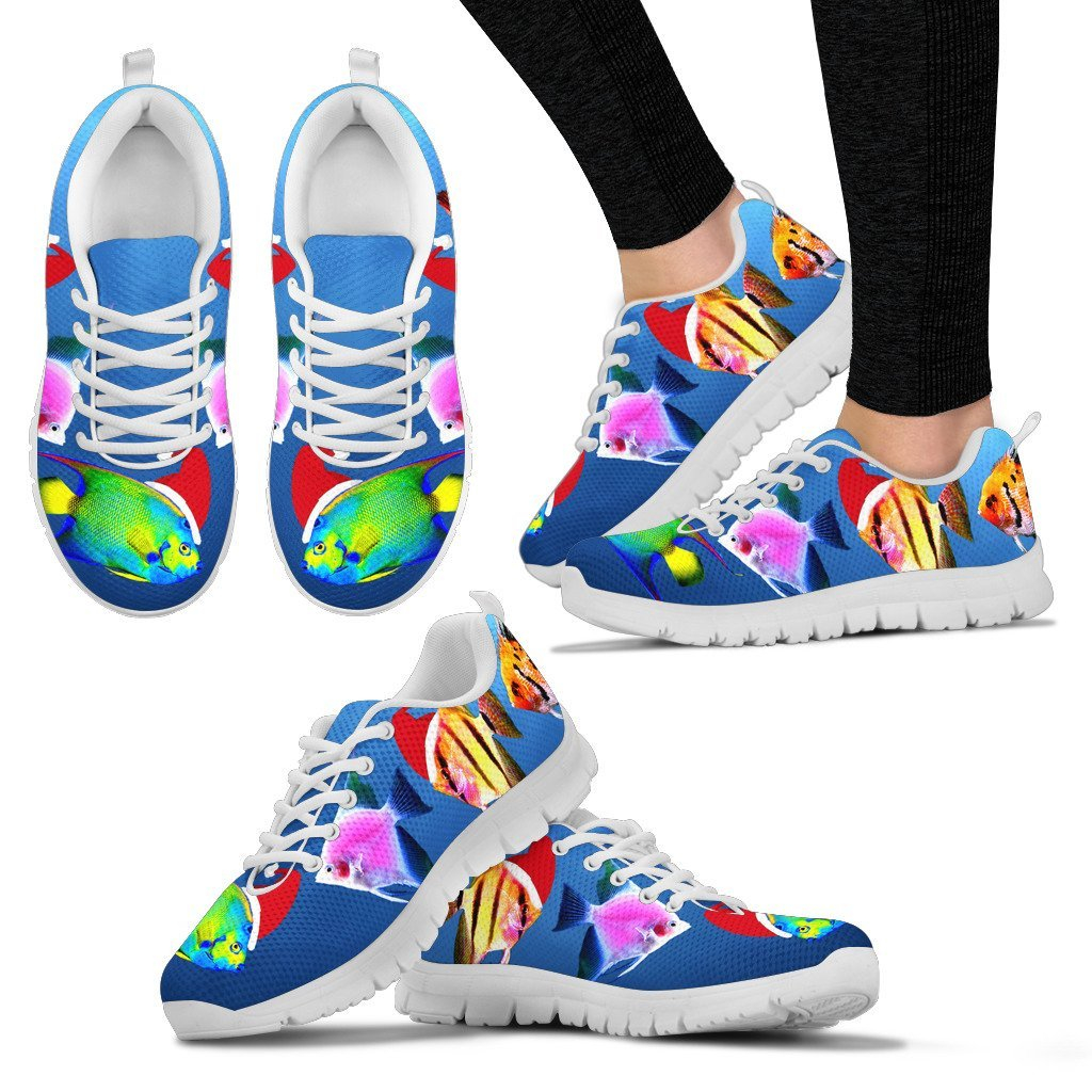 AngelFish  Print Christmas Running Shoes For Women- Free Shipping - Deruj.com