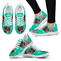Paws Print Chihuahua (Black/White) Running Shoes For Women-Express Delivery - Deruj.com