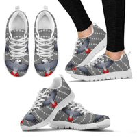 Flying African Grey Parrot Christmas Print Running Shoes For Women-Free Shipping