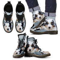 Australian Shepherd Print Boots For Men-Express Shipping - Deruj.com