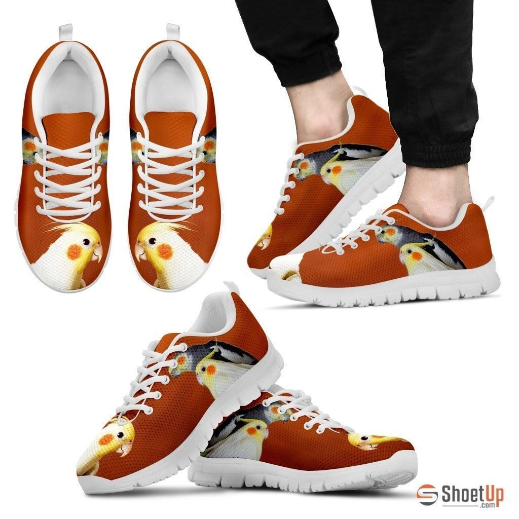 Cockatiel Parrot Print Running Shoes For Men-Free Shipping - Deruj.com