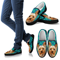 Paws Print Yorkshire (Black/White) Slip Ons Shoes For Men-Limited Edition-Express Shipping - Deruj.com