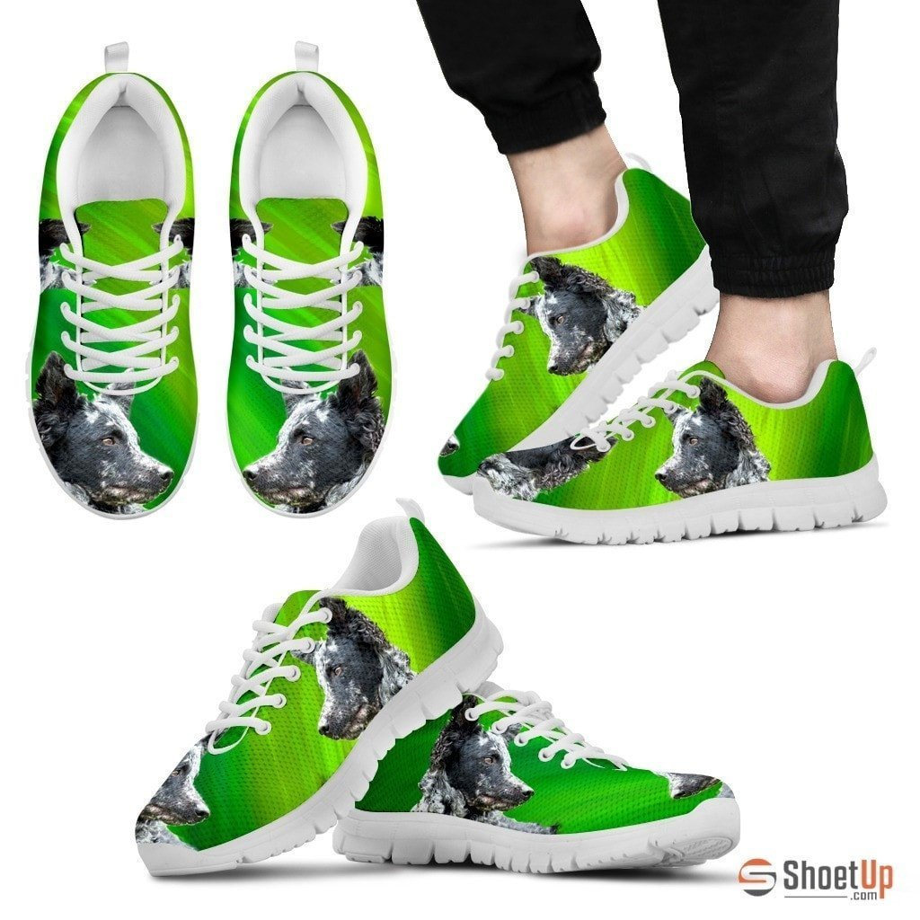 Mudi Dog Print (Black/White) Running Shoes For Men-Free Shipping Limited Edition - Deruj.com