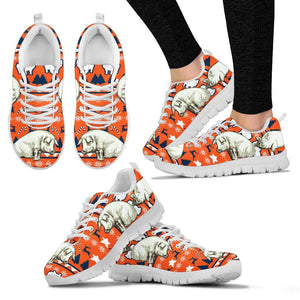 Meishan Pig Print Christmas Running Shoes For Women- Free Shipping - Deruj.com