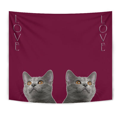 Chartreux Cat Print Tapestry-Free Shipping - Deruj.com