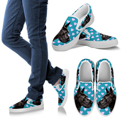 Valentine's Day Special-Great Dane Dog Print Slip Ons For Women- Free Shipping - Deruj.com
