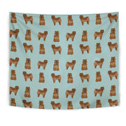 Cute Chow Chow Dog Pattern Print Tapestry-Free Shipping - Deruj.com