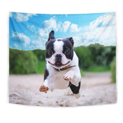 Boston Terrier Running Print Tapestry-Free Shipping - Deruj.com